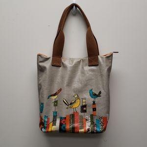 Fossil Key Per Bird coated canvas purse bag